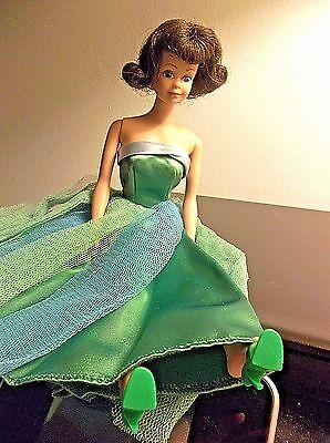 Vintage Barbie Early Midge 64/65 Doll with Mattel REPRO Senior Prom Gown & Shoes