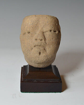 Pre columbian Ancient Mexico Olmec pottery head circa 1200 BC to 400 BC