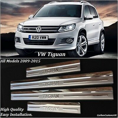 VW Tiguan 2009-2015 4 Piece Stainless Steel Door Sill Scuff Protector Plates