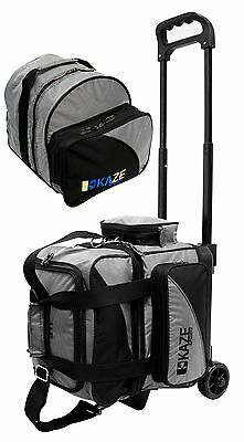 KAZE SPORTS Deluxe Single One Ball Bowling Roller Tote Bag + ADD-ON Spare 1 2