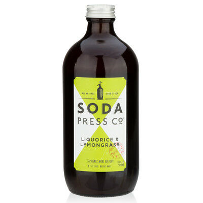 NEW Soda Press Co Liquorice & Lemongrass Syrup 500ml