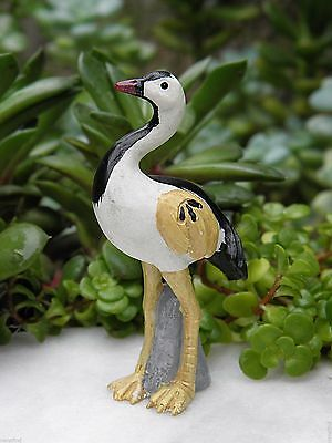 Miniature Dollhouse FAIRY GARDEN Accessories ~ ZEN Crane Bird ~ NEW