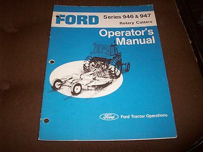 Ford Series 946 947 Rotary Cutter Operator's Manual