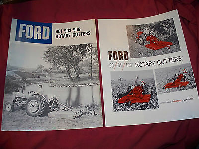 Pair of Ford 901 902 906 Series Rotary Cutter Brochures Nice