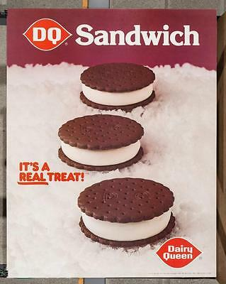 Vintage Dairy Queen Promotional Poster Ice Cream Sandwich 1981 Matte dq2
