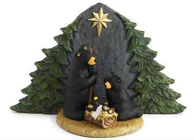 Forest Nativity Bear Family Figurine, Bearfoots by Big Sky Carver Demdaco