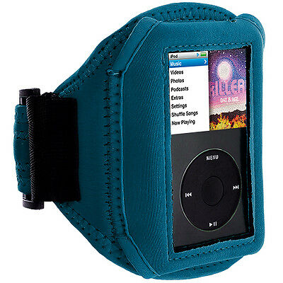 Baby Blue NEW SPORT GYM ARMBAND CASE COVER FOR APPLE IPOD CLASSIC