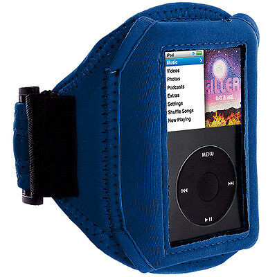 Blue NEW SPORT GYM ARMBAND CASE COVER FOR APPLE IPOD CLASSIC