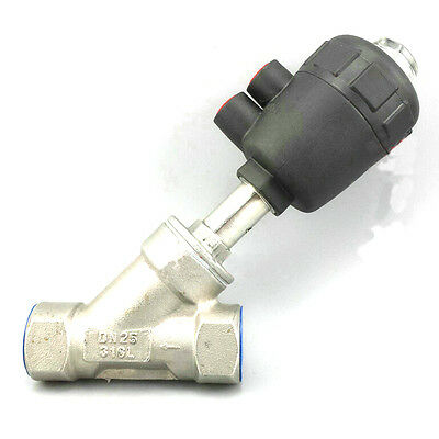"""Angle valve G1""""  DN25 Angle Seat valve,  BSP, Stainless Steel body,"""