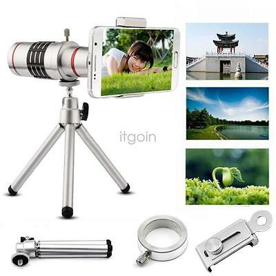 18X Optical Zoom Telescope Camera Lens Tripod+Back Case For iPhone6 7 plus J