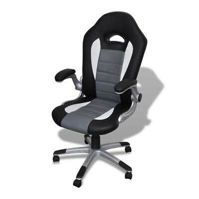 Gray Executive Racing Style Bucket Seat Office Chair Desk Task Chair Adjustable