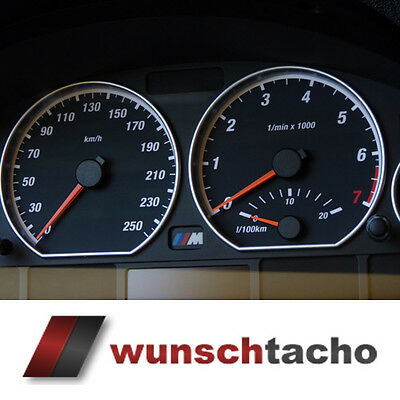 "speedometer speedometer dial for BMW E46 Petrol Ring"" 250 kmh Top"