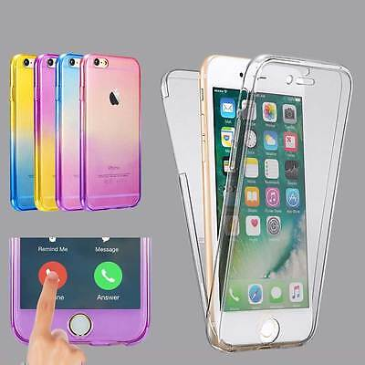 Shockproof 360° Silicone Phones Protective Clear Case Cover For Samsung iPhone
