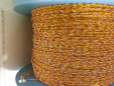100 ft BARCEL Wire Twisted Pair 20 AWG Stranded Silver Copper Teflon SCGMS 19/2