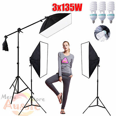 PRO 2025W Photography Studio Video Softbox Lighting Set Soft Box Light Stand Kit