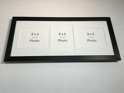 Multi App Photo Frame Black-Holds 3 x 8''X6'' Choose from 4 mount colours