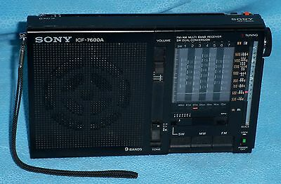 Sony Icf-7600A Fm/mw 9 Band Shortwave Radio Receiver - Works Great - 1983 Japan