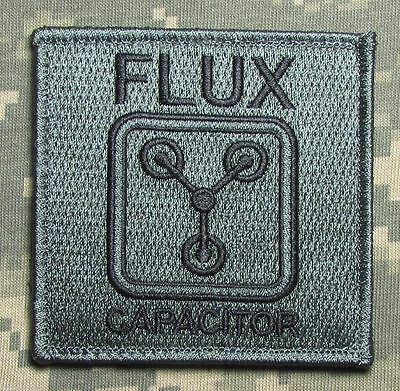 Flux Capacitor Back To Future Military Acu Dark Patch W/ Velcro® Brand Fastener