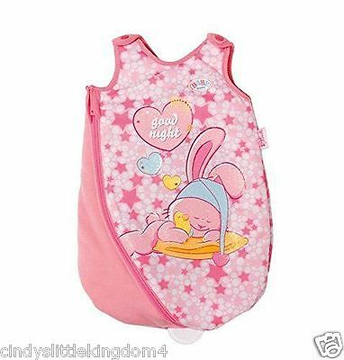 New Zapf Creation Baby Born Sleeping Bag For Dolls Pink Toy Age 3+
