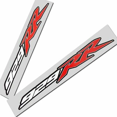 CBR 929 RR motorcycle graphics red white black tri colour decals stickers x 2