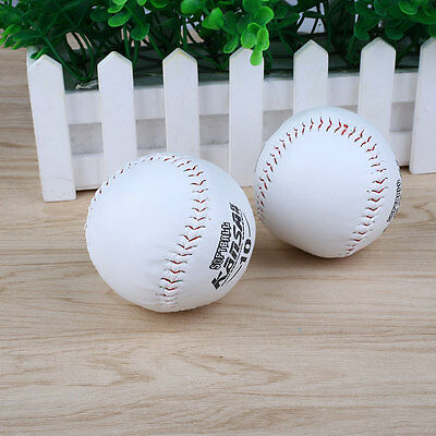 2Pcs Trainning BaseBall Sport Softball Practice Base Ball Soft Leather Outdoor