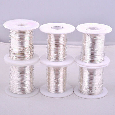 1M(3.28ft) 9999 Pure Silver Wire Round Wire for DIY HIFI Audio Speak Cable