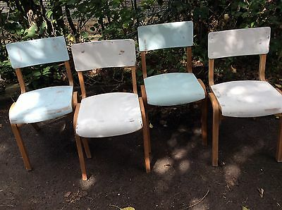 Stunning Up cycled School Stacking Chairs X4