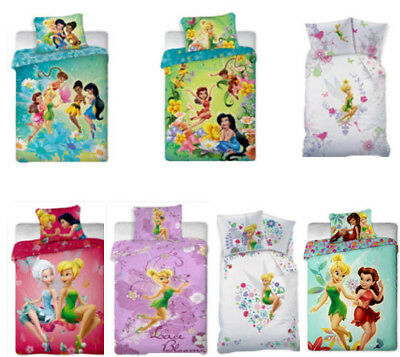Disney Fairies SINGLE DUVET COVER & PILLOWCASE SET 100% COTTON OFFICIAL BEDDING