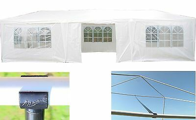AirWave 9m x 3m Party Tent Marquee Gazebo 3 FREE WINDBARS White Fully Waterproof