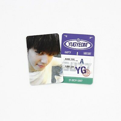 [GOT7]Turbulence Album Official Photocard / Baggage Tag ver. - Yugyeom