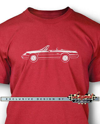 Alfa Romeo Spider Veloce 1990 - 1993 T-Shirt for Men - Multiple Colors and Sizes