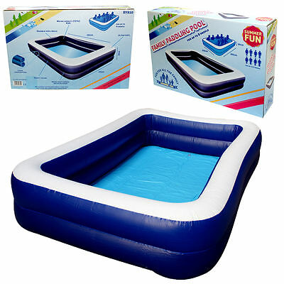 Inflatable 8Ft Family Paddling Pool Fast Set Swimming Pool Garden Outdoor Fun