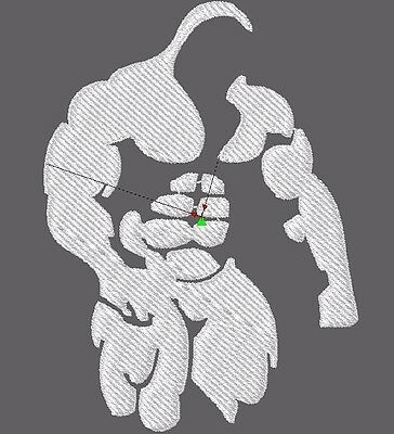 Embroidery Design digitized bodybuilder file pes dst almost any format
