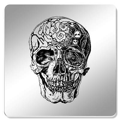6 x 'Detailed Skull' 95mm Mirror Coasters (CR00083403)