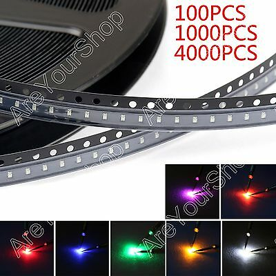 0603 SMD LED Red Green Blue Yellow White Orange Purple 7Colours Licht  BS3