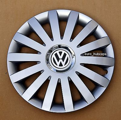 """15"""" wheel trims/Hub Caps/Covers to fit Vw Golf,Polo,Touran,Caddy/Quantity 4"""
