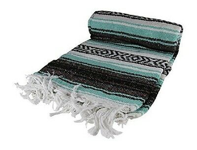 #11 New 6 Pack Mexican Falsa Throw Blankets Yoga Mexico Serapes Assorted Mix