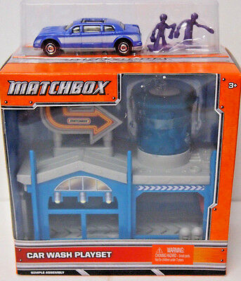 Matchbox CAR WASH Playset with Purple LIMO