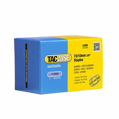 Tacwise 0456 Type 73 10mm Staples (5000) for Stapling Pliers HD-73, Rapid HD31