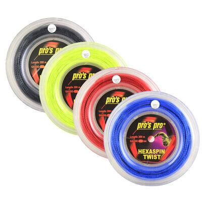 Pro's Pro Hexaspin Twist Tennis String - 200m Reel - 1.20mm / 1.25mm / 1.30mm