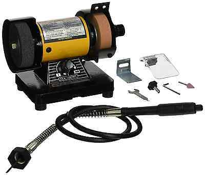 TruePower 199 Mini Multi Purpose Bench Grinder and Polisher with Flexible Shaft,
