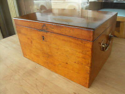 Victorian Antique Mahogany Collectors Box With Two Lift Out Trays