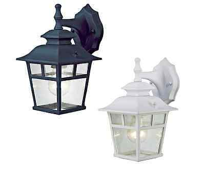 Black or White Finish Outdoor Wall Light Fixture