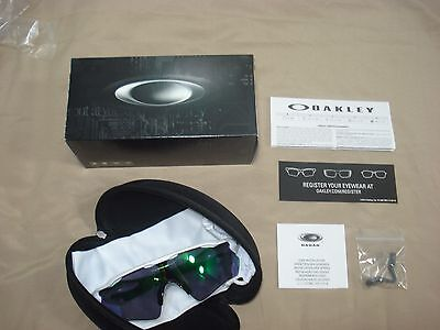 9208-48 38 New Oakley Radar Ev Path Polished White Jade Iridium & Case 9208-4838