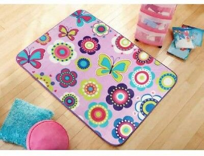 Mainstays Kids' Royal Plush Butterfly Accent Rug, 30 X 46