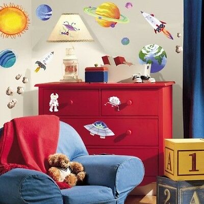 RoomMates Outer Space Peel And Stick Removable Kids Multi-Surface Wall Decals