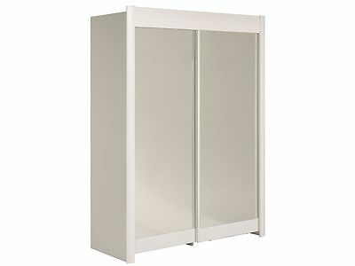 Rokh Blanc - Armoire 2 Portes Coulissantes 160cm - Neuf