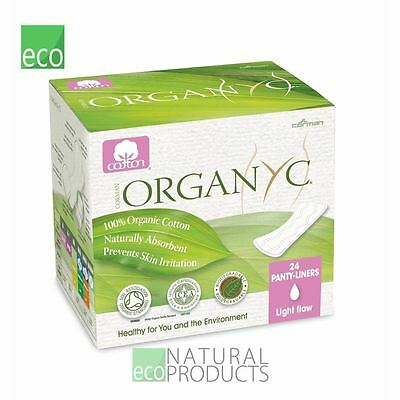 Organyc Cotton Panty-liners Light Flow Individually wrapped Box of 26