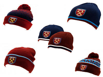 Official West Ham United FC Wooly Hats   FREE (UK) P+P
