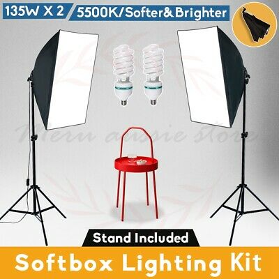 1350W Photography Studio Softbox Continuous Lighting Soft Box Light Stand Kit AU